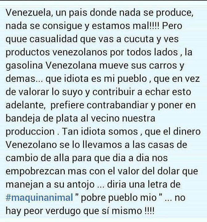 Ureña - Venezuela, Crisis economica - Página 31 DWqsrMCWAAI0zaI