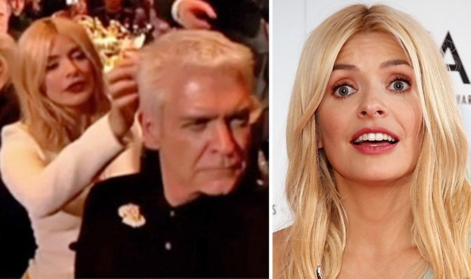 This Morning presenter Holly Willoughby caught doing THIS to Phillip Schofield in bizarre TV moment 'She's wasted!' https://t.co/vHTTSgpfNl
