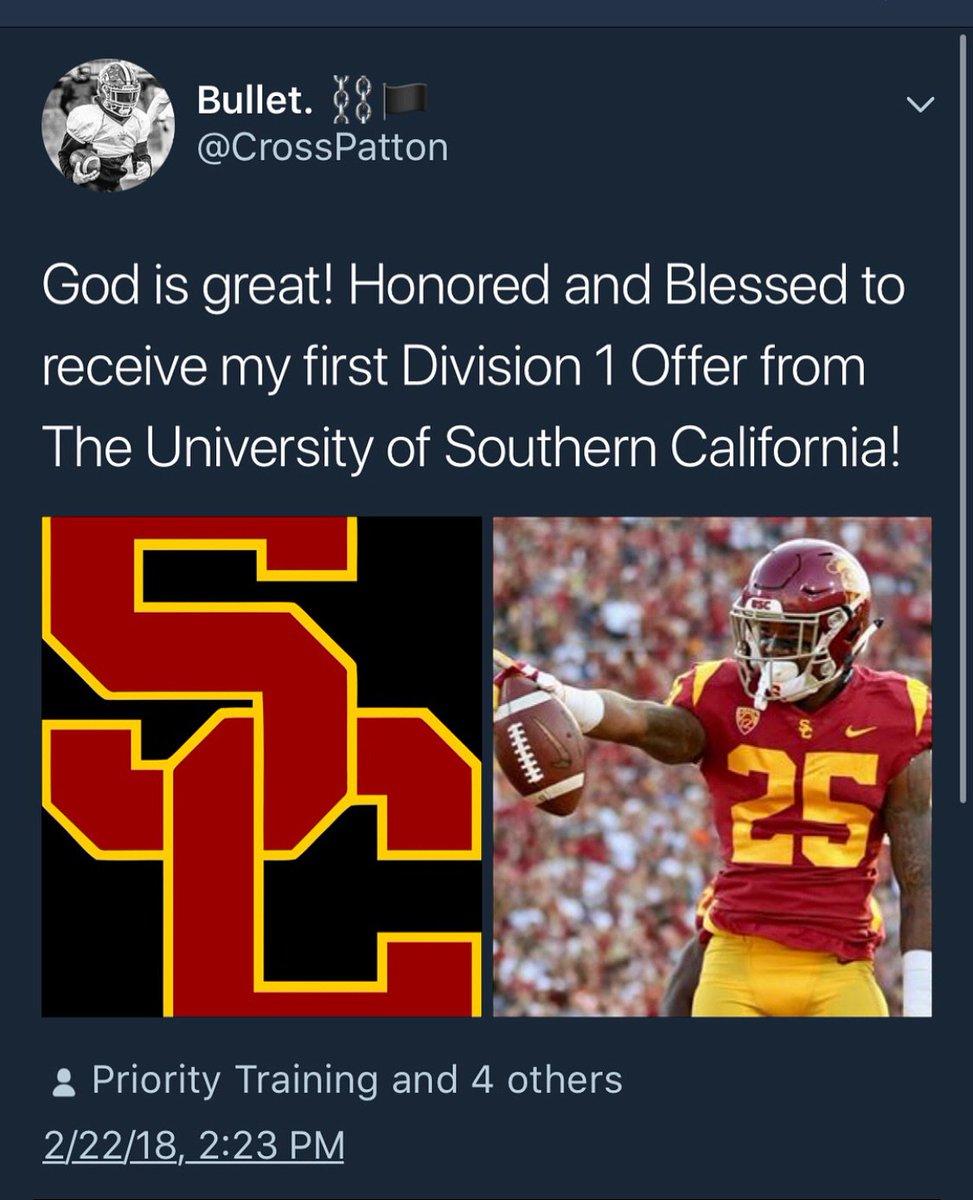Congrats to my Son @CrossPatton Running Back , Woodward Academy Class of 2019 #USC #Trojans https://t.co/GTThrRFudi