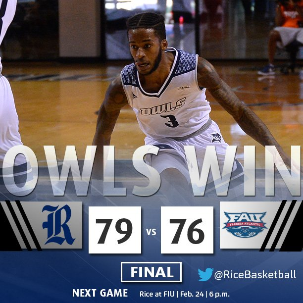 Rice Basketball On Twitter ADAMS HITS A THREE AT THE BUZZER AND