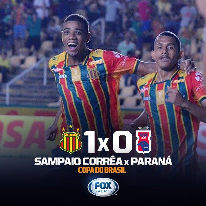 🇧🇴 BOLÍVIA QUERIDA CLASSIFICADA! Com gol solitário de Uilliam, o @scfcoficial elimina o Paraná e segue na #CopaDoBrasilFOXSports! Será que vai ter muita comemoração com reggae no Maranhão?