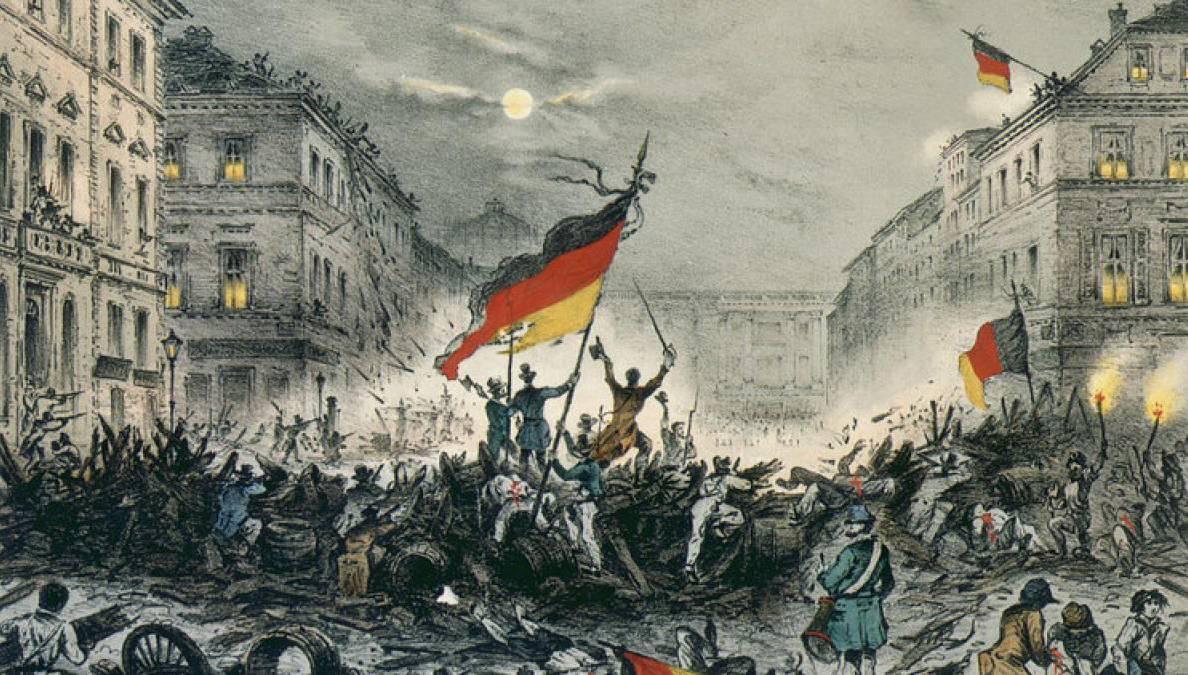 ▶️ La Révolution de 1848 n'est pas un phénomène uniquement français ! Des mouvements d'émancipation nationale éclatent dans toute l'Europe. C'est le fameux « printemps des peuples » ! #secretsdhistoire  🎨 Révolution de 1848 à Berlin. 🇩🇪