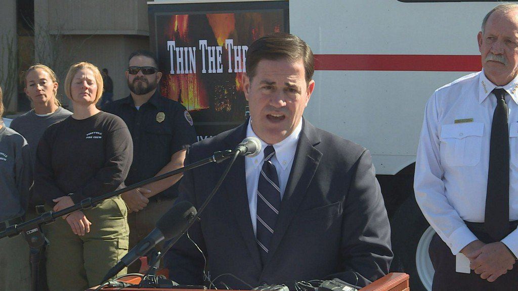 Ducey calls for doubling state wildfire prevention budget https://t.co/f0StM8Ofv2