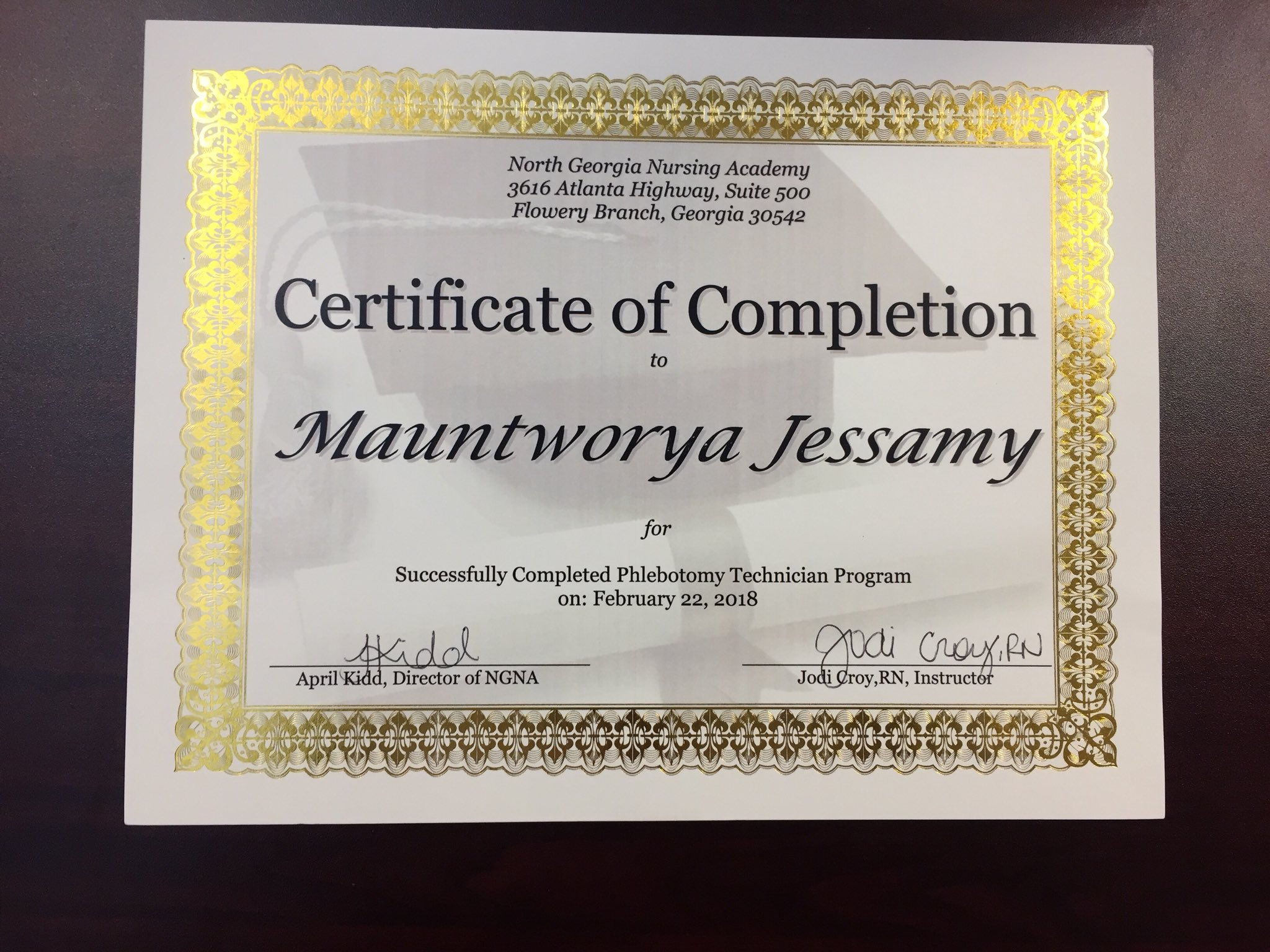 Georgia Phlebotomy Certification Gallery Free Certificates For All