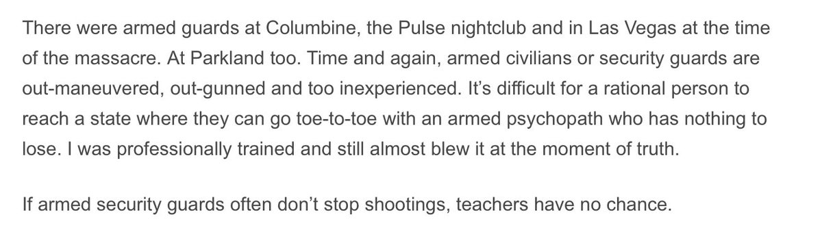 In wake of latest reveal from Parkland, consider this from a former combat officer https://t.co/1qu9shs6qg