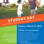 Image for the Tweet beginning: The @ToshibaClassic Student Day is