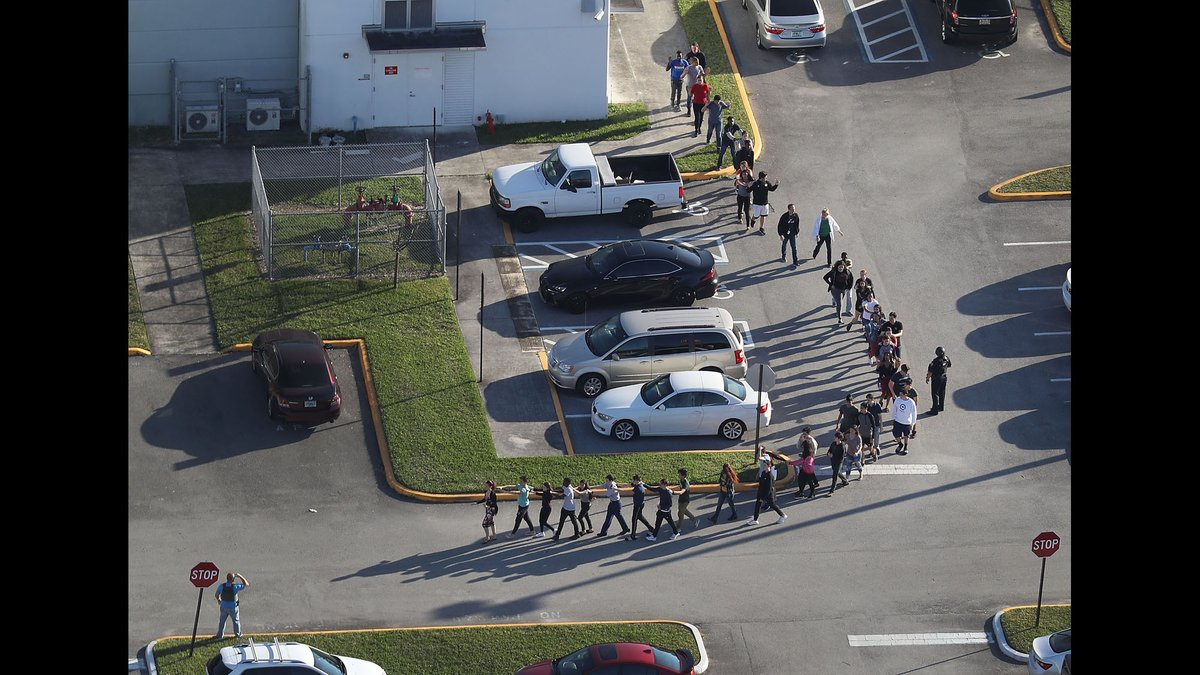 The school resource deputy at the high school where the Florida shooting occurred waited outside the school building as the shooting unfolded https://t.co/ljBALUSnkW
