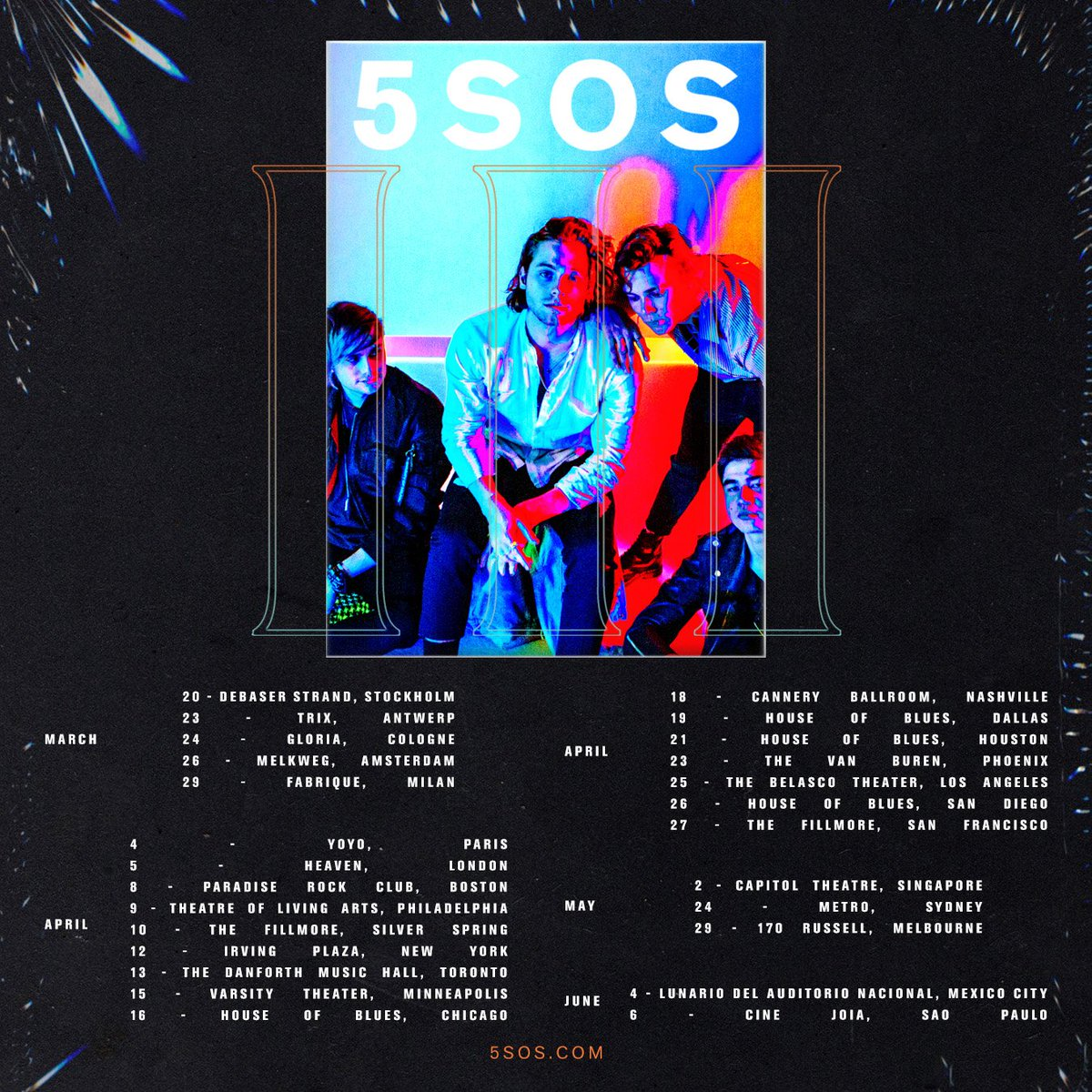 // WE ARE COMING TO A CITY NEAR YOU // HERE ARE THE TOUR DATES // 5SOS3 // https://t.co/oGoqIhH9rg