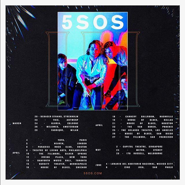 5sos tour dates in Brisbane