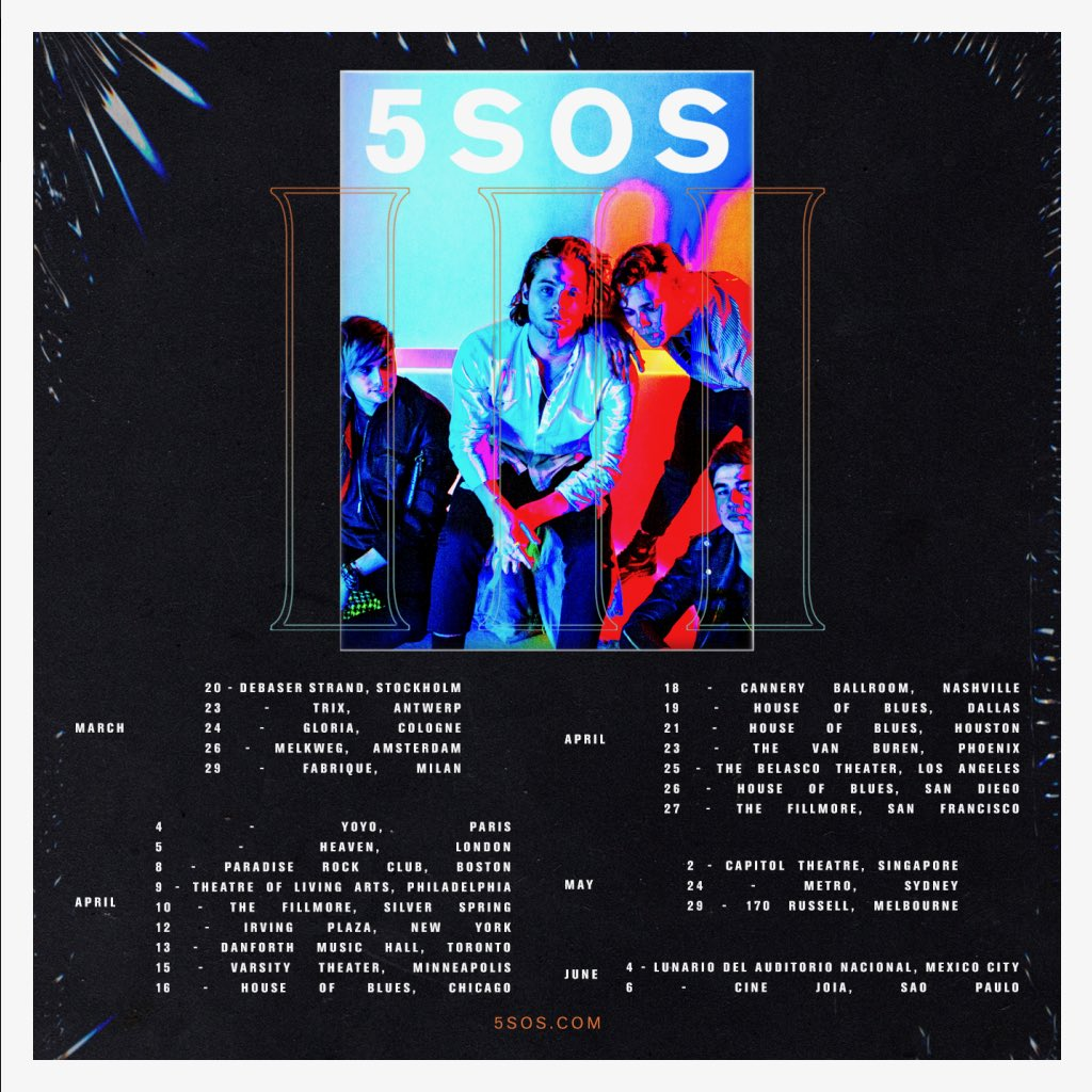 Another little gift for you. 5SOS III LIVE.