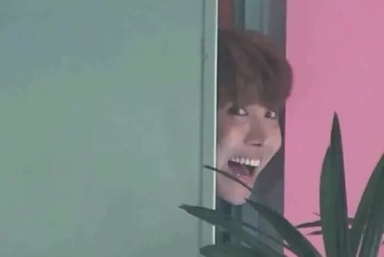 hoseok sneaking on twitter and watching...