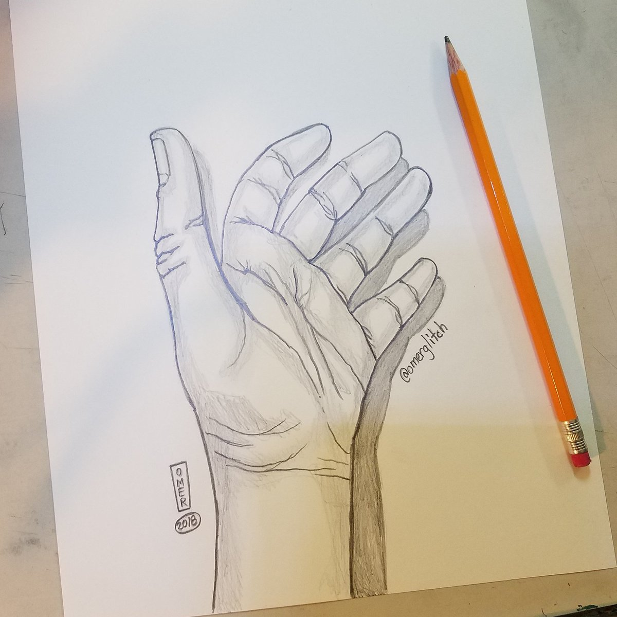 omer garcia iii on twitter contour hand drawing with shading