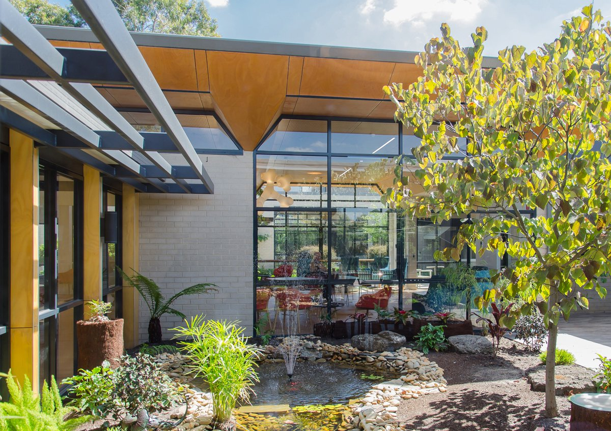 #architect #architecture #window #windows #building #glass #bricks #view  #landscape #nature #tree #people #southyarra #melbourne #australia ...