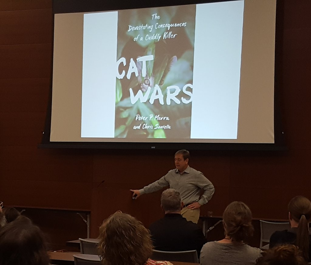 Im so thrilled to see this presentation by @PeterPMarra for Baton Rouge Audubon! #catwars #Conservation