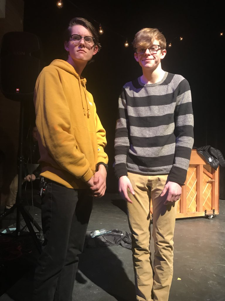 test Twitter Media - Jonah Grey and Paul Linville, both '19, dressed as each other for musical theater cabaret. Watch for a story in the coming days. https://t.co/eShkSQRrWZ