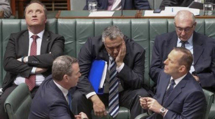 Christopher Pyne now the lone front bench survivor of this cracking @ellinghausen snap