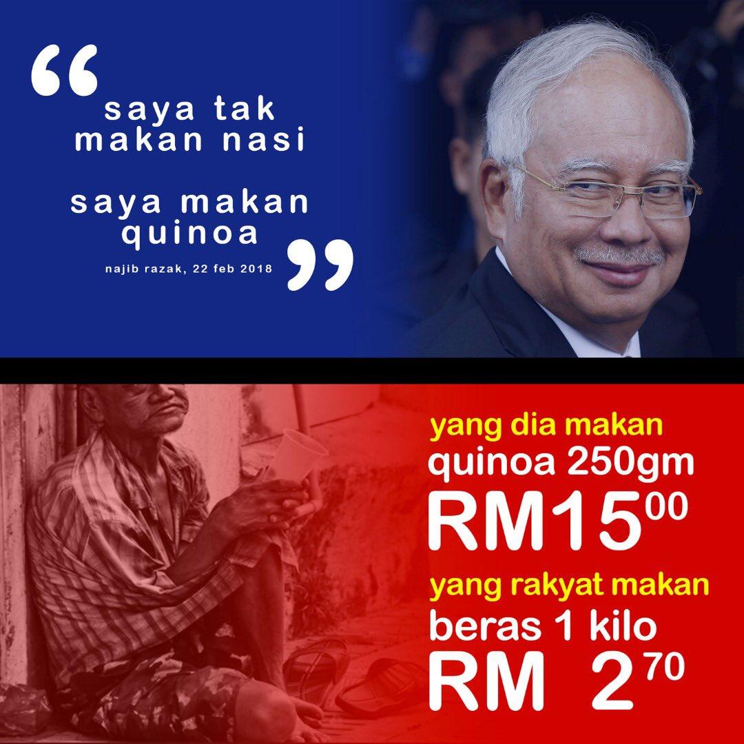 「Gambar Najib makan Quinoa」的圖片搜尋結果