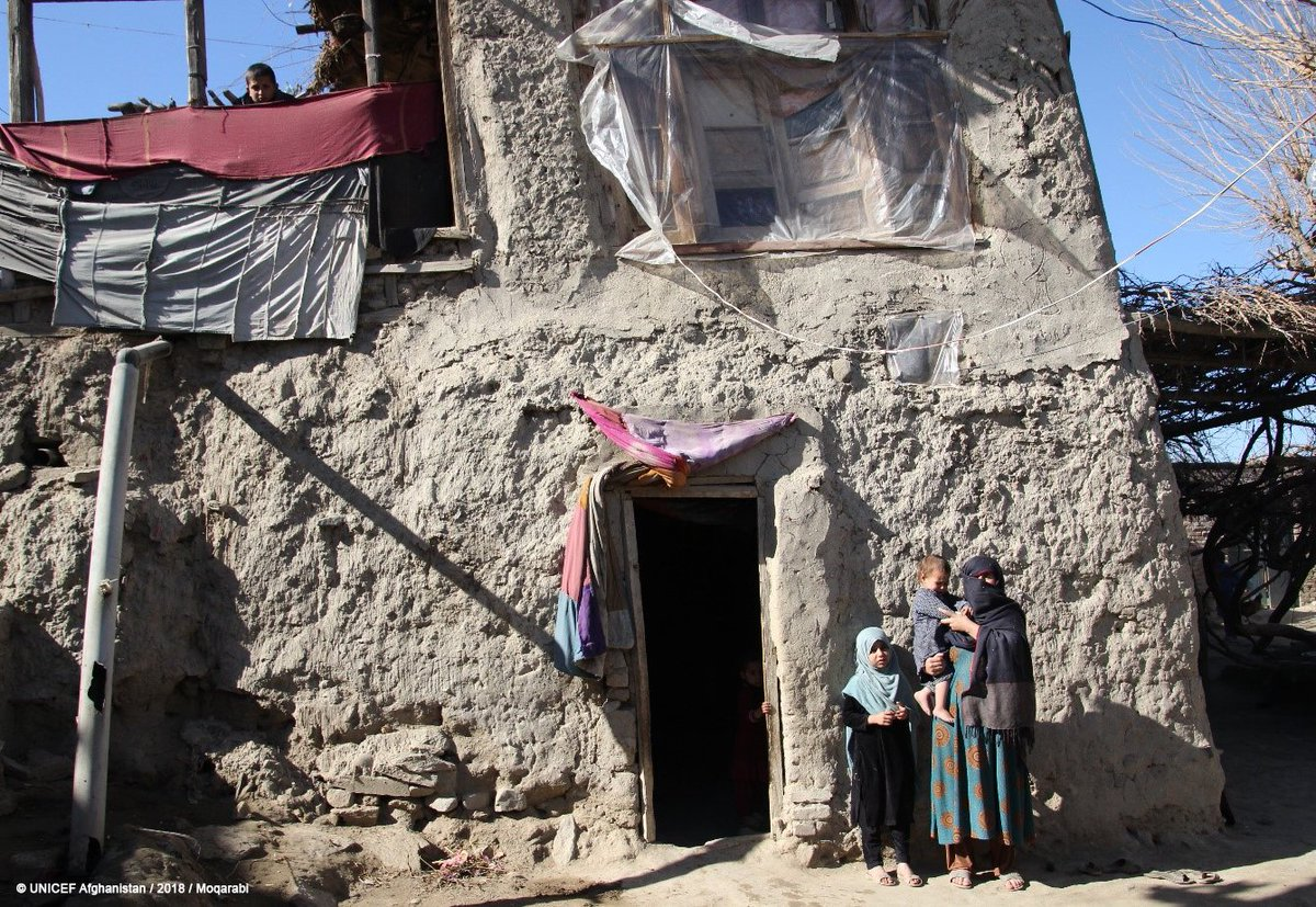 """""""Accessing the toilet with many people living in 1 house isnt easy; specially while I was pregnant. Lifes going to be better now"""", says Asri Gul who lives with her big family of former refugees #Laghman. With support from #UKaid an emergency latrine is being built in her house"""