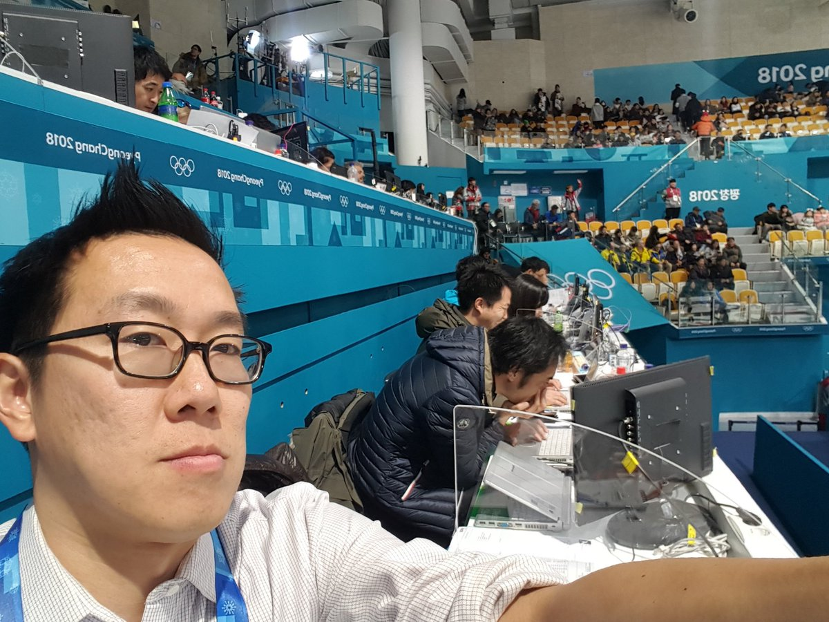 The photos we reporters covering the #winterolympics exchange so we can find each other in arenas are both funny & accidentally artistic