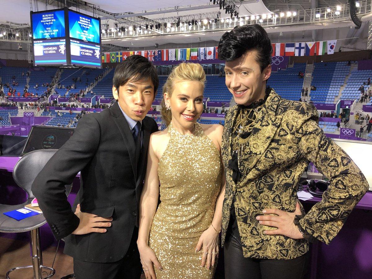 They are just so beautiful!! ジョニーさんタラさんオダさん。 #PyengChang2018  #平昌オリンピック