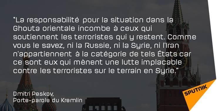 Le Kremlin réagit à la situation dans la #GhoutaOrientale  https://t.co/LcSUkolj1U