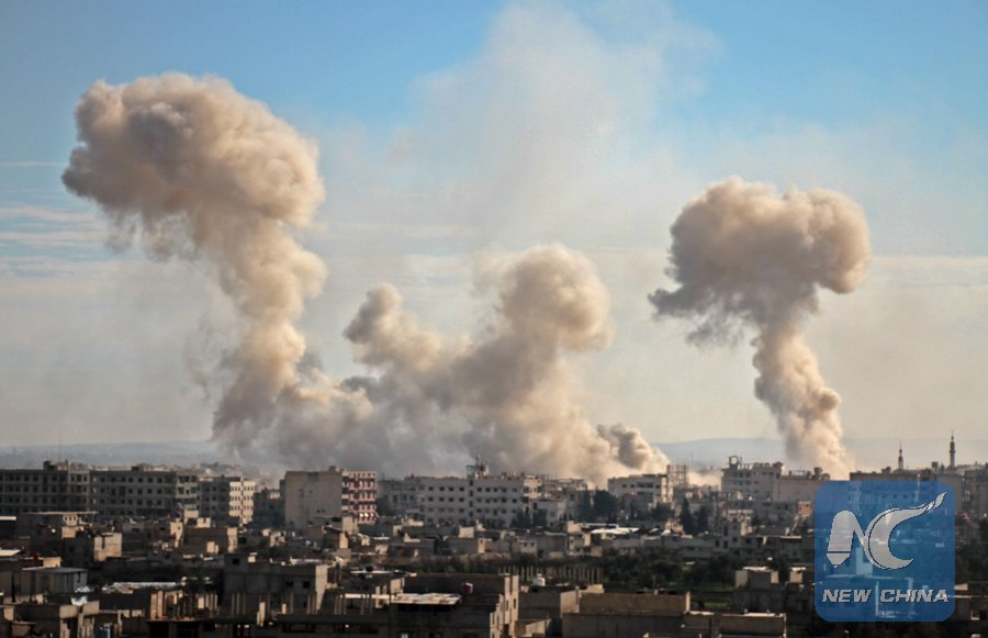 Fighting continues in Syria's #Ghouta, #UN Security Council considering a resolution demanding a 30-day humanitarian ceasefire across the Mideast country https://t.co/JibjZdbJJb