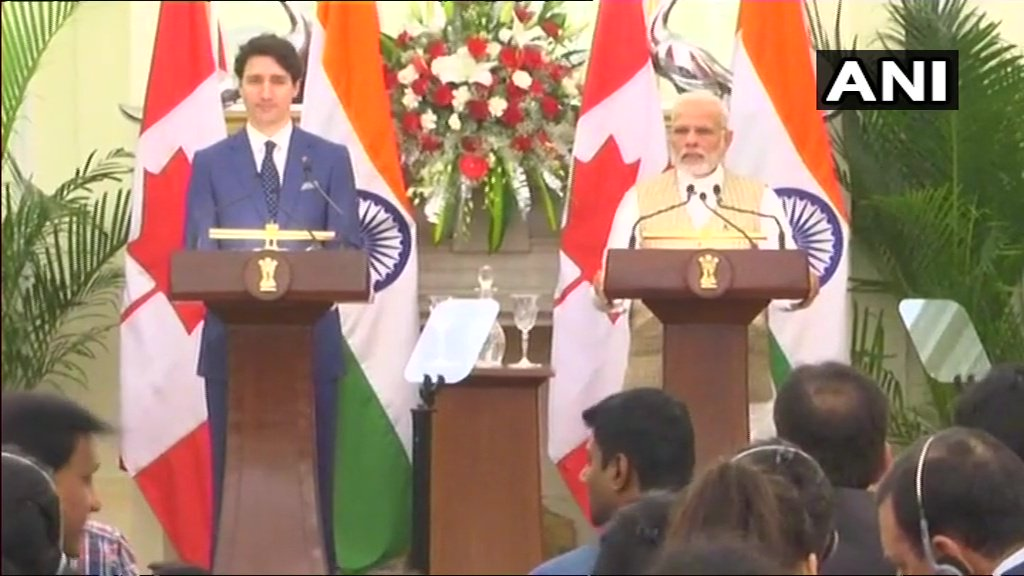We have similar thoughts when it comes to the situation in North Korea and Maldives, says Prime Ministe @narendramodir  at press statement with Canadian  @JustinTrudeauPM
