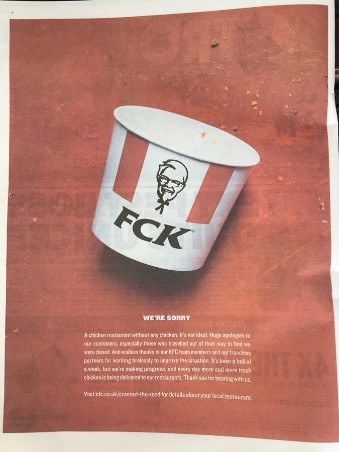 KFC chicken ad