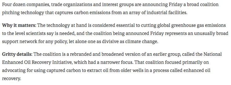 New: Carbon capture coalition expands & rebrands, but loses one key voice ().  @NRDCviahttps://t.co/yOGsDlZ5Nv @axios