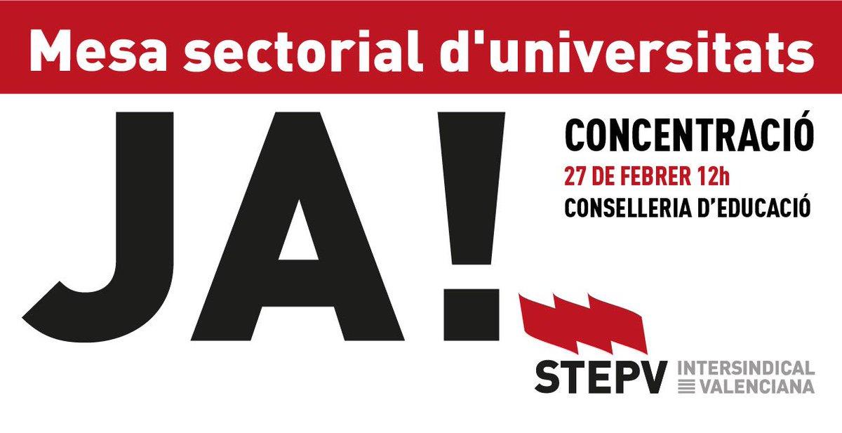 #JaToca una Mesa sectorial d'universitat...