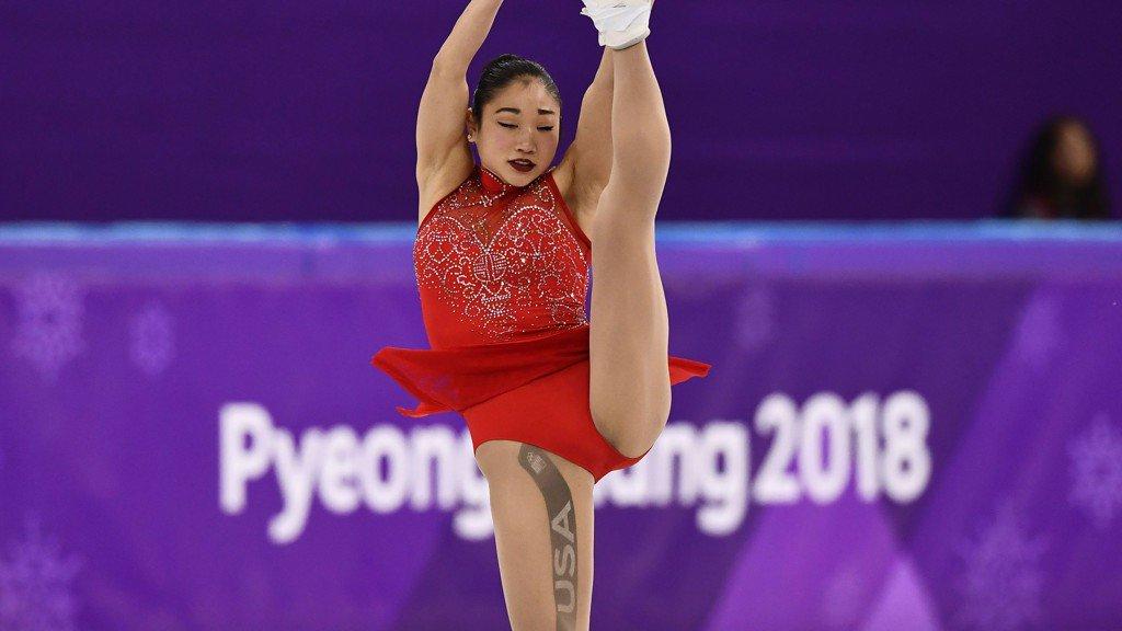 What's that mark on figure skater Mirai Nagasu's leg? https://t.co/yhC6oK8hJt
