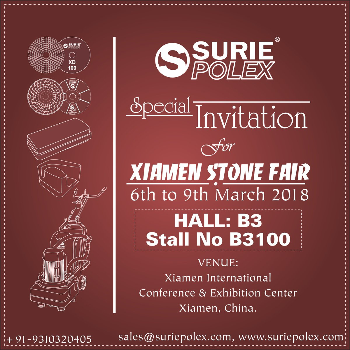 Penetrators hashtag on twitter surie polex invites you to visit our stall b3100 in xiamen stone fair 2018 xiamen china we will be pleased to welcome you to our stall stopboris Choice Image