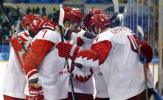 Завершился матч по хоккею между Россией и Чехией на ОИ-2018