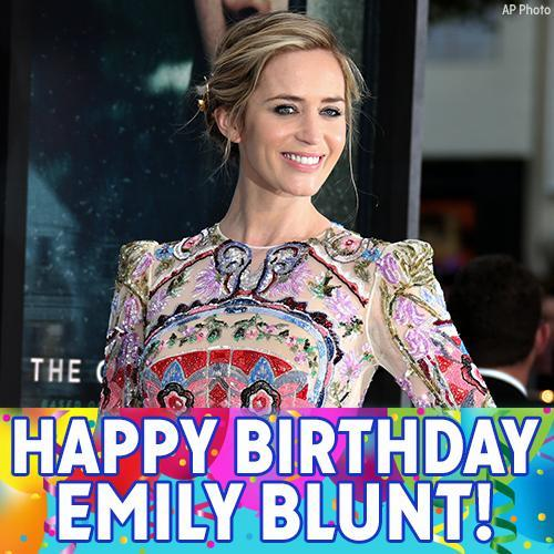 Happy Birthday, Emily Blunt! The actress is known for her roles in Sicario and The Girl on the Train.""