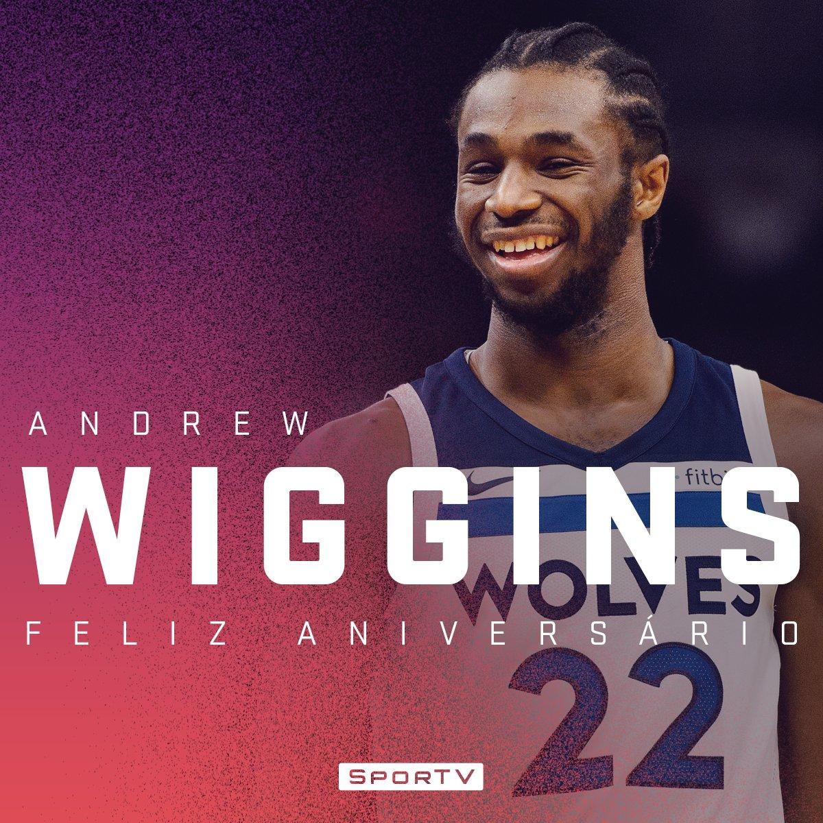 Um dos astros do Timberwolves completa 23 anos nesta sexta-feira! Parabéns, Andrew Wiggins! #NBAnoSporTV #AndrewWiggins23