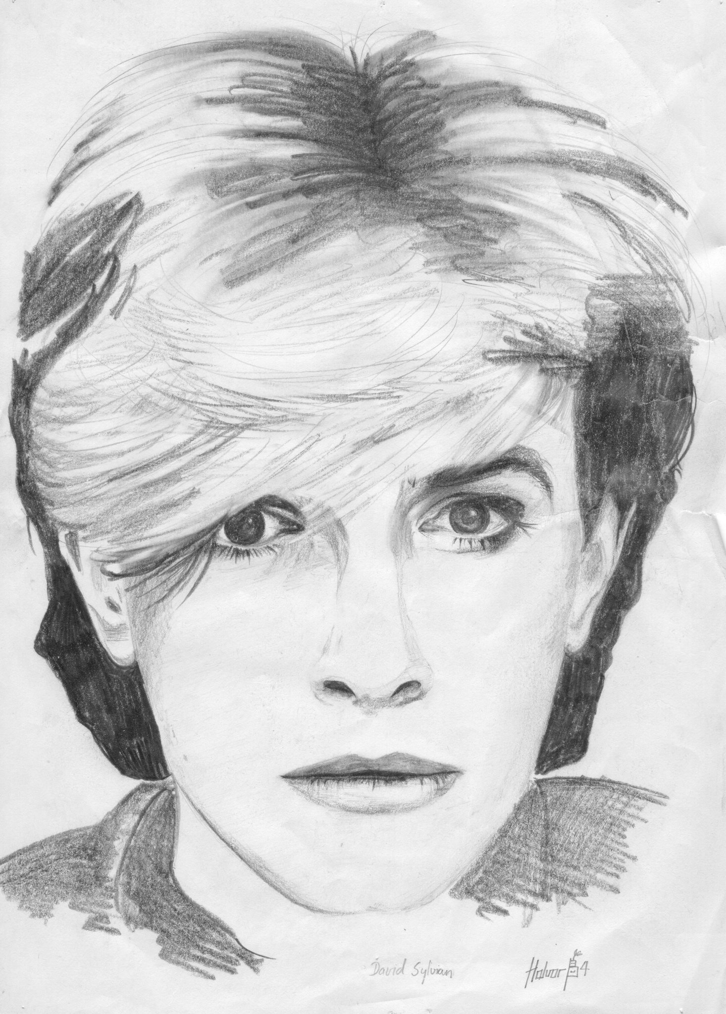 Happy birthday to David Sylvian! This is a fan boy drawing I did in 1984.