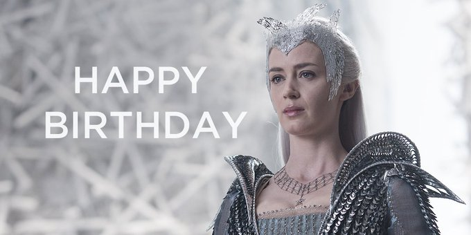 Happy Birthday to the beautiful and talented Emily Blunt! Catch her in The Huntsman: Winter\s War