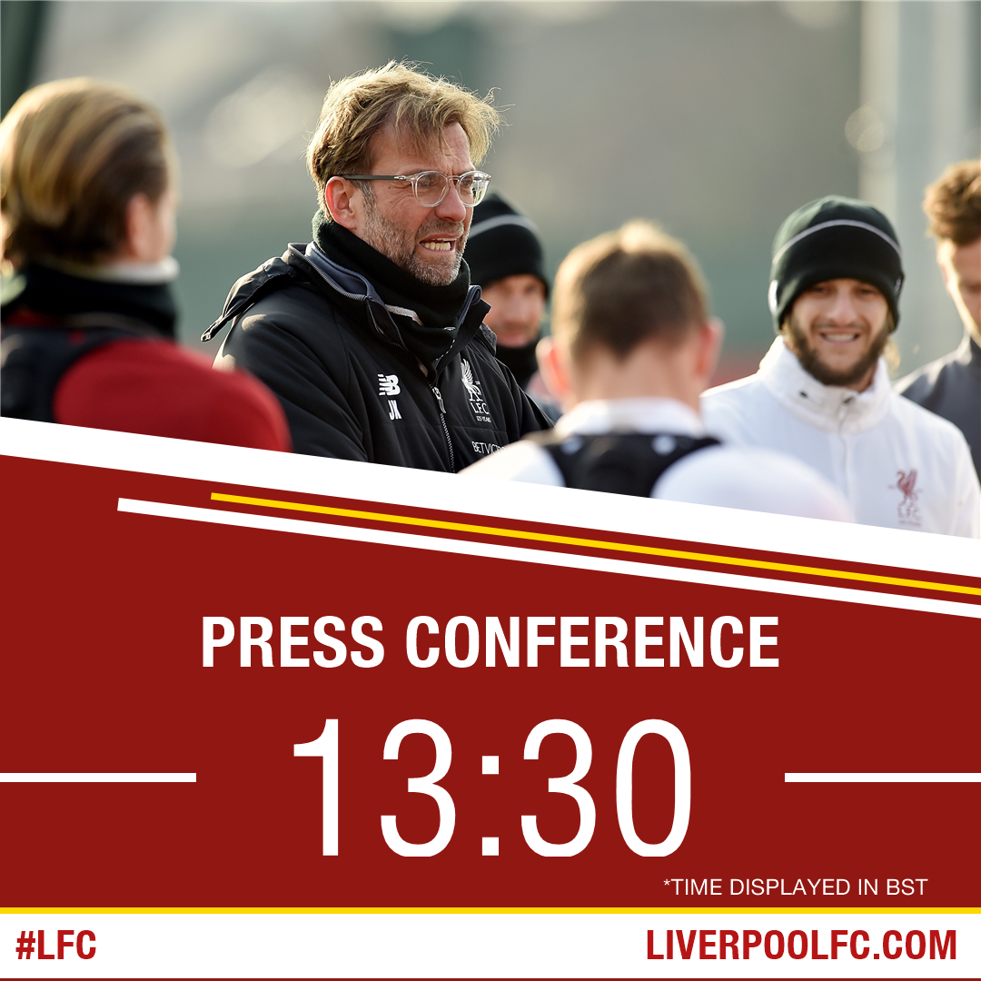 🗣️ Join Jürgen Klopp for today's pre-West Ham press conference ahead of Saturday's clash.   Watch live and free. 👇  🖥️ https://t.co/acFwn8yFJj 📱 https://t.co/CYmYx6PhfN