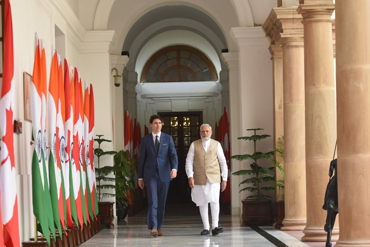 The talks with PM @JustinTrudeau were fruitful. Our discussions focussed on closer India-Canada cooperation in various sectors including investment, trade, energy and stronger people-to-people relations.