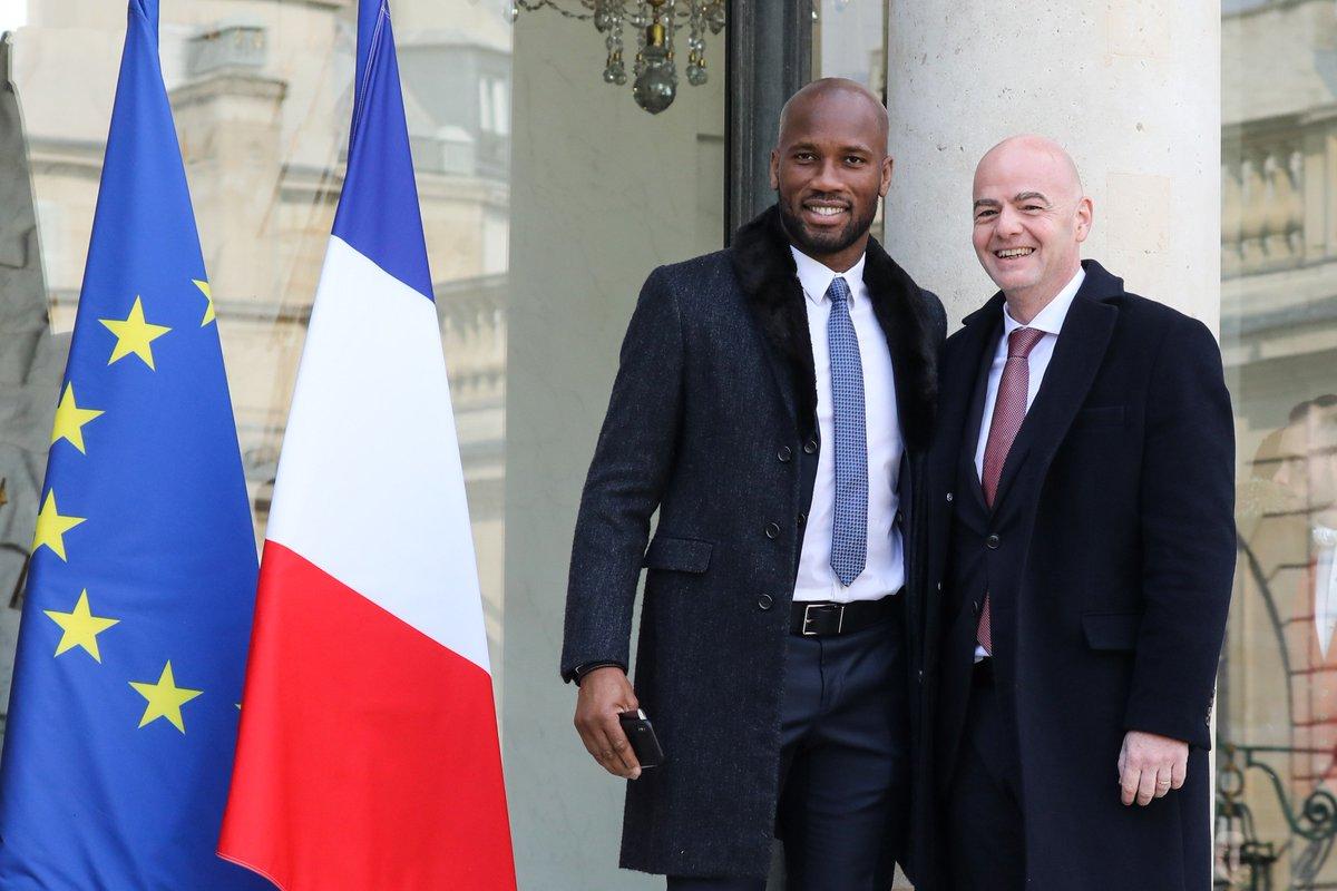 Didier Drogba & FIFA President Gianni Infantino