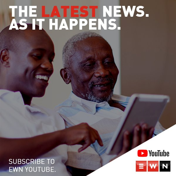 Subscribe to the EWN YouTube page & get local & international news updates, one-on-one interviews & lifestyle snippets. https://t.co/5PBg2359Tx