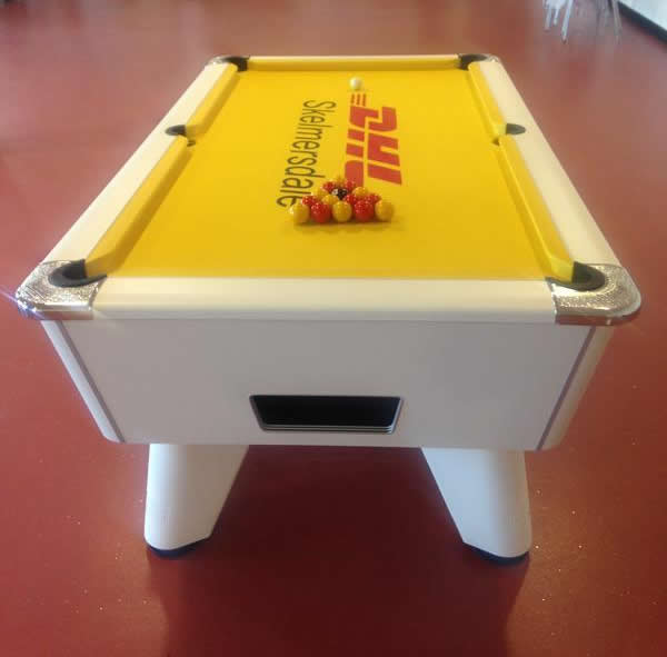 IQ Pool Tables On Twitter An Example Of A Company Logo On A Pool - Custom printed pool table felt