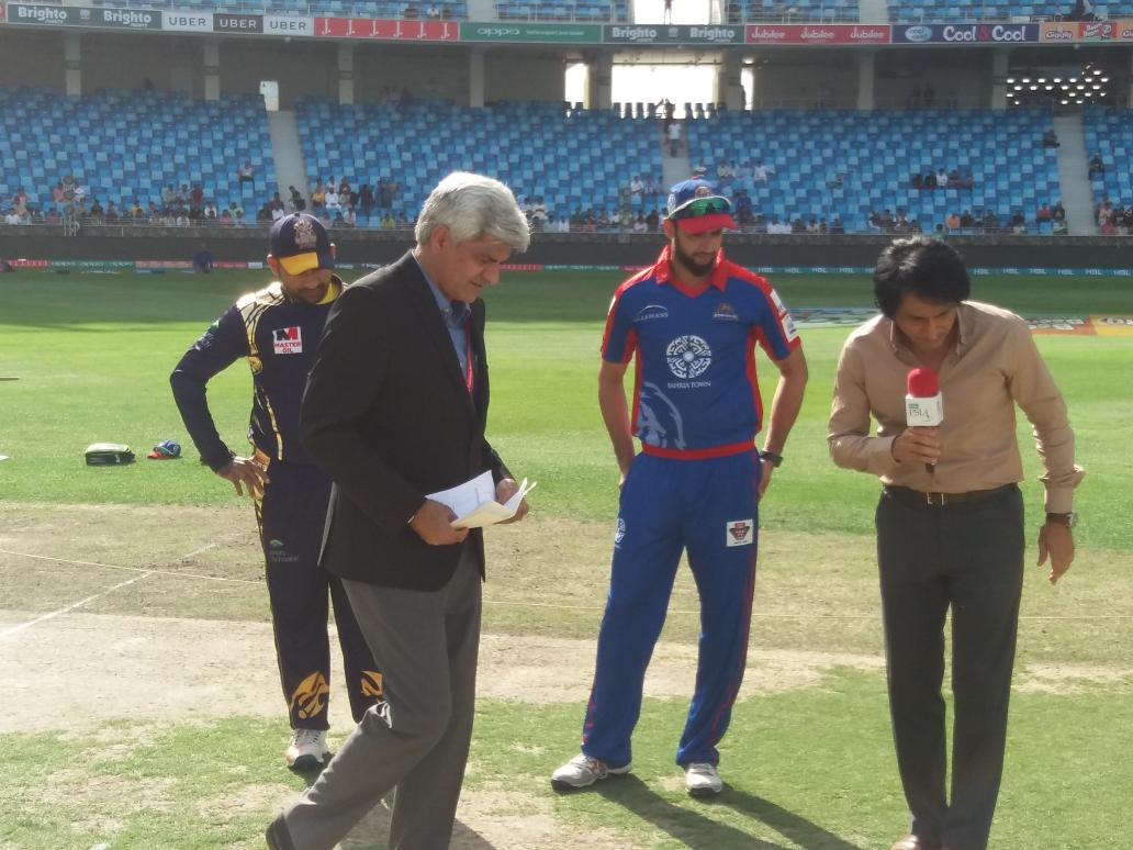 Karachi Kings win toss and opt to bat against Quetta Gladiators
