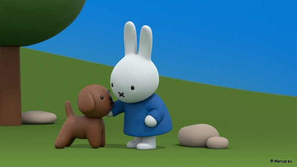Snuffy is one of Miffy's best friends!  Watch Miffy's Adventures on Tiny Pop at 1.30pm and 7:10pm.