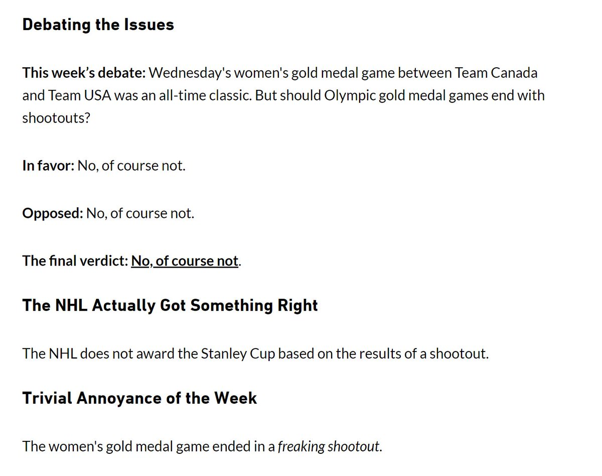 Friday Grab Bag: Olympic shootouts, GMs NHL need some long-term thinking, a YouTube look at a trade war room and lots more. https://t.co/RwWMlKnuq8