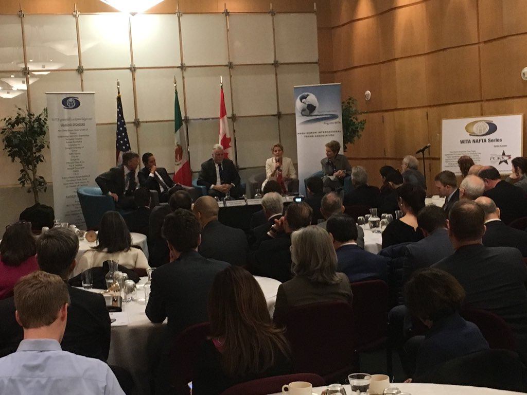 Premiers of Ontario, Quebec in Washington: end this trade uncertainty ASAP! https://t.co/o7wSQB9cwG   Currently at this event @WITA_DC