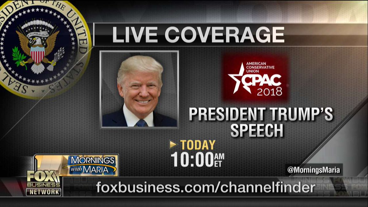 Programming Alert: LIVE coverage of @POTUS's speech at CPAC today at 10:00 a.m. ET.