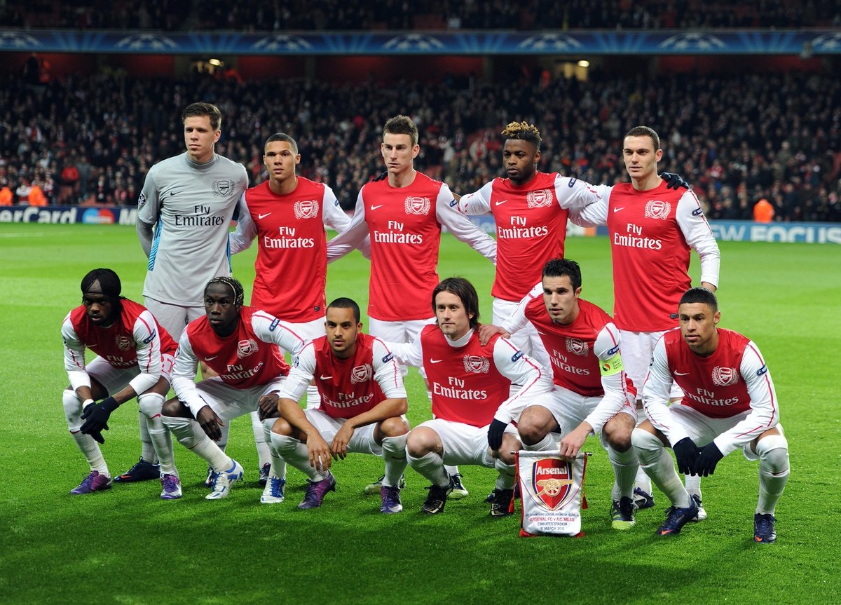 Our team the last time we played @acmilan...