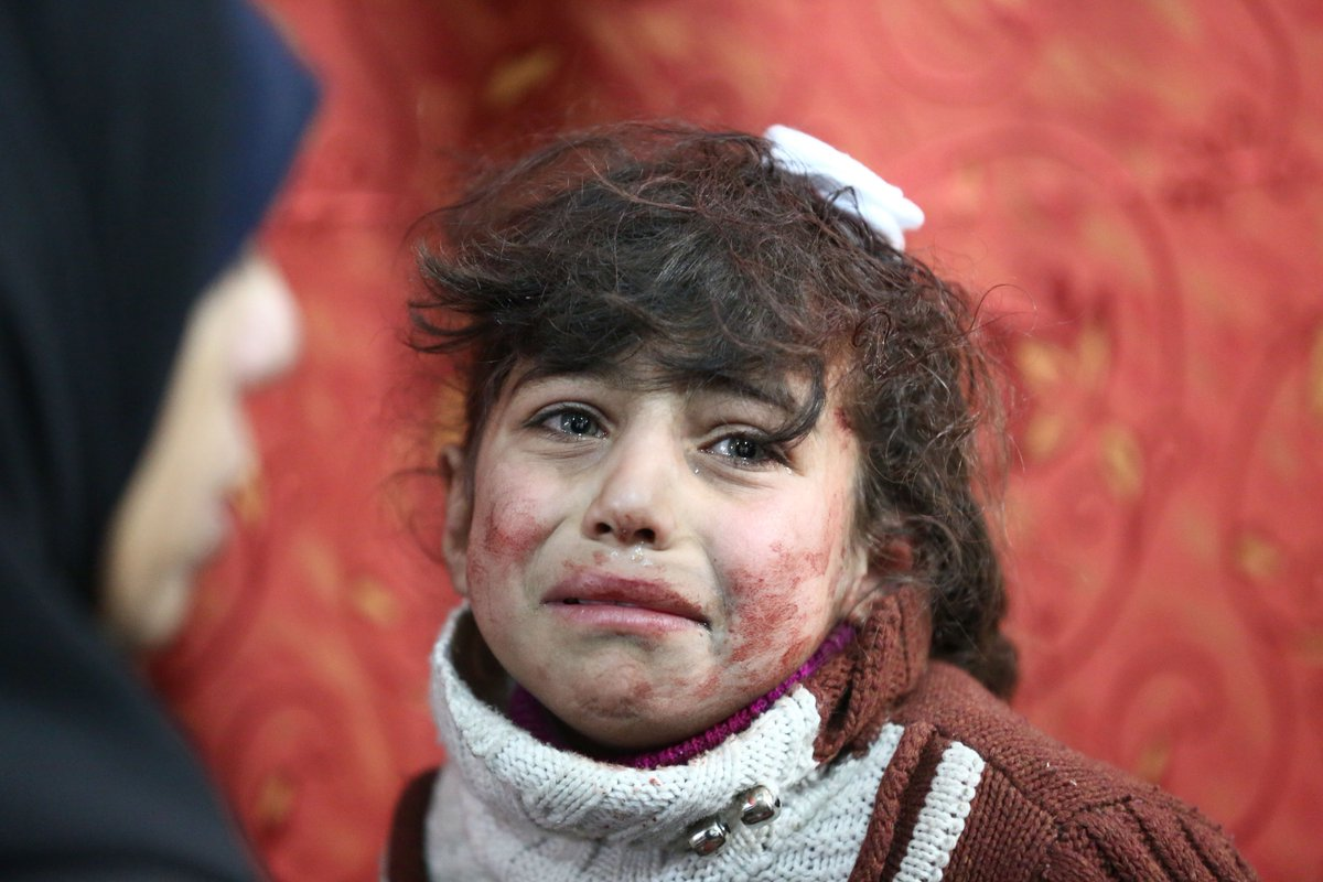 Over 400 people have been killed in Syria in the last five days.  150 of them were children.