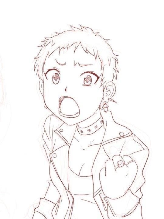 おととしの描きかけの仙崎さん発見した